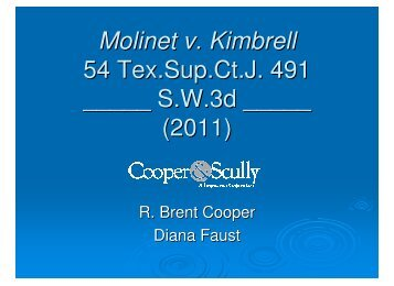 Molinet v. Kimbrell - Cooper & Scully, PC