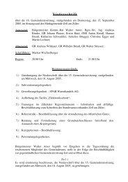 16. Sitzung: Donnerstag, 15. September 2005 - Marktgemeinde Zell ...