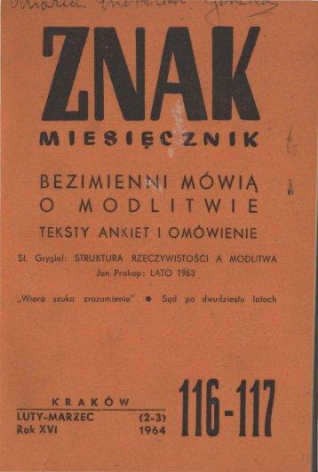 Nr 116-117, luty-marzec 1964 - Znak