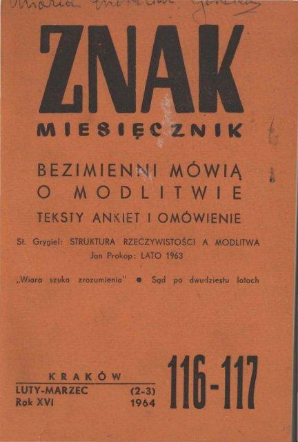 Nr 116 117 Luty Marzec 1964 Znak