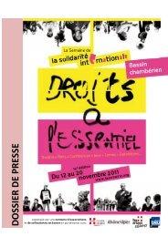 Dossier de presse 2011 - La Semaine de la solidarité internationale