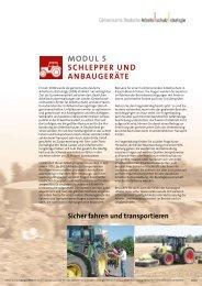 Modul 5: Schlepper und Anbaugeräte - Gemeinsame Deutsche ...