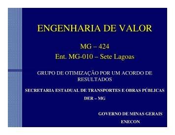 engenharia e análise do valor na rodovia mg 424 - assender