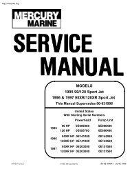 MODELS 1995 90/120 Sport Jet 1996 & 1997 95XR/120XR Sport Jet