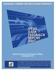 DFR 2007 Report - Ozarks Technical Community College