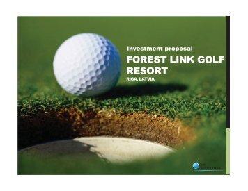 Golf Resort in Latvia Riga - Axe Development