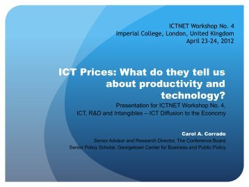 ICT Prices: What do they tell us about productivity and ... - OECD