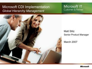 CDI Evolution & Global Account Management