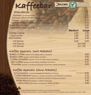 Kaffee Specials (mit Alkohol) - GastRaum