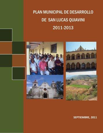 plan de desarrollo municipal de san lucas quiaviní 2011-2013