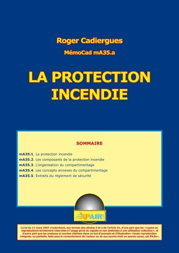 LA PROTECTION INCENDIE