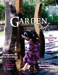 An Amazing Year - Birmingham Botanical Gardens