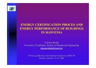 energy certification proces and energy performance of buildings in ...