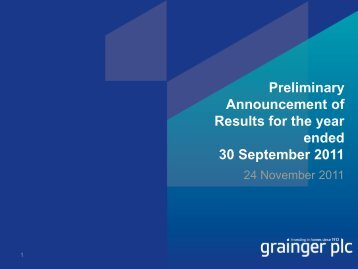Preliminary Announcement of Results for the year ... - Hemscott IR
