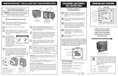 4500 Series Install Instructions - Knox Box on