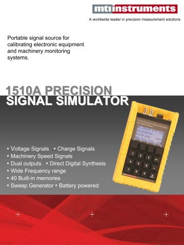 SIGNAL SIMULATOR 1510A PRECISION - MTI Instruments Inc.