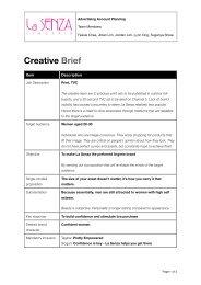 AD340 La Senza Creative Brief - Strongerhead