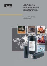 ACP Series Kolbenspeicher - Parker