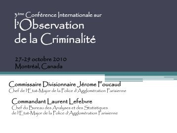 Diapositive 1 - International Centre for the Prevention of Crime