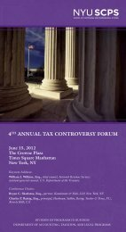 4Th ANNuAl TAx CoNTRovERSY FoRuM - MultiView