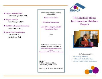 The Medical Home for Homeless Children Project - Partnership for ...