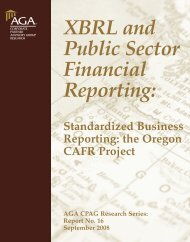 XBRL and Public Sector Financial Reporting: - AGA