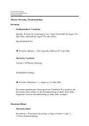 Statistik 2_mit Lösungen - Zml.uni-flensburg.de - Universität Flensburg