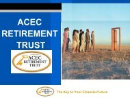 acec retirement trust - American Council of Engineering Companies
