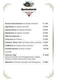 Eis und Desserts - Gasthaus Esterer