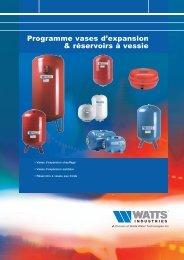 Programme vases d'expansion & réservoirs à vessie - Watts Industries