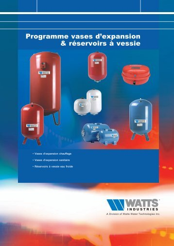Programme vases d'expansion & réservoirs à vessie - Watts Industries