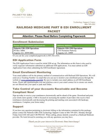 EDI Enrollment Form for Medicare Part B Claim Submission