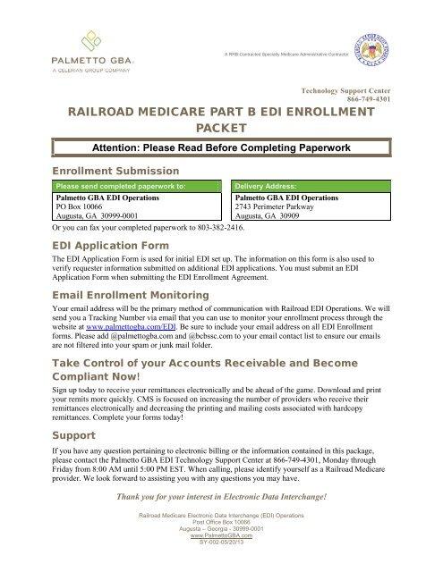 Railroad Medicare Edi Enrollment Packet