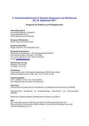 Deutsch Symposium 09 -10 09 2011_Programm - Österreichische ...