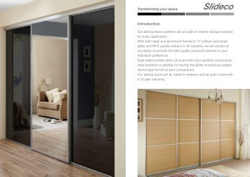 download our sliding wardrobe door brochure - Basically Doors & Parapan - Curved doors - Basically Doors