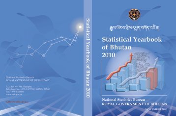 STATISTICAL Yearbook of Bhutan 2010 - Gross National Happiness ...