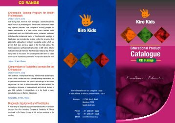 CD Catalogue - Kiro Kids
