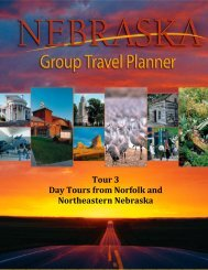 Nebraska Group Tour Travel Planner: Tour 3 - Industry