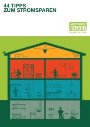 44 TIPPS ZUM STROMSPAREN - Greenpeace energy eG