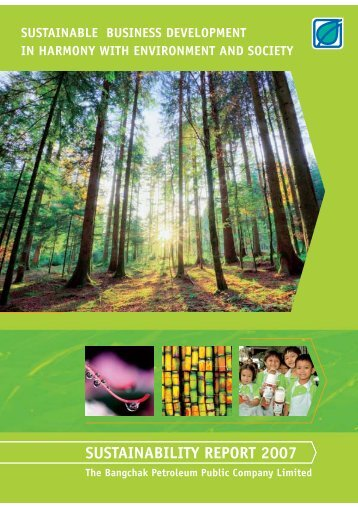 SUSTAINABILITY REPORT 2007 - Investor Relations