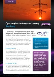 Opus energises its storage and recovery Innovative solution ... - Softcat