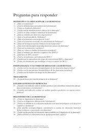 Preguntas y Recomendaciones de la GPC sobre Alzheimer y otras ...