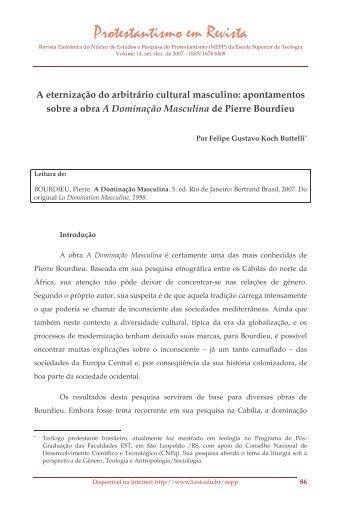 A eternização do arbitrário cultural masculino ... - Faculdades EST