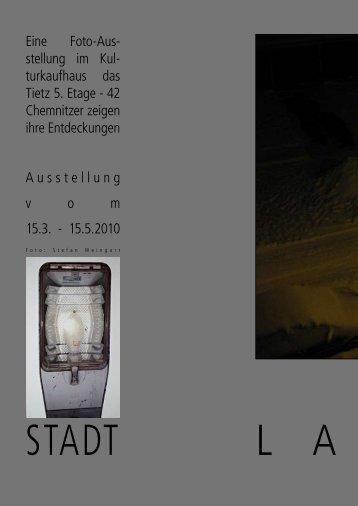 Eine Foto-Aus- stellung im Kul- turkaufhaus das ... - Galerie Laterne