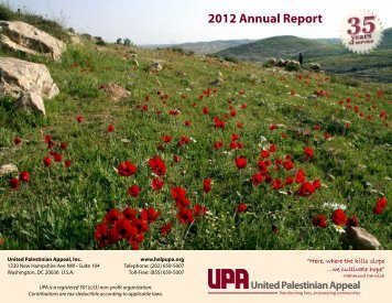 UPA 2012 Annual Report - United Palestinian Appeal