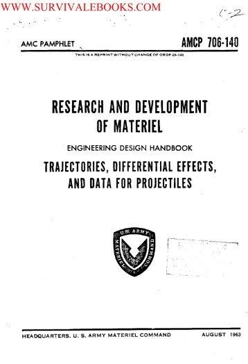 1963 US Army Vietnam War Trajectories ... - Survival Books