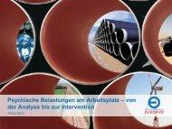 Psychische Belastungen am Arbeitsplatz - BKK-Landesverband ...