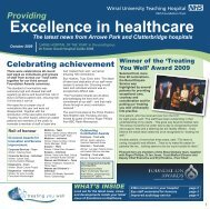 Excellence in healthcare - Wirral University Teaching Hospital NHS ...
