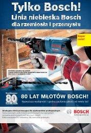 80 lAt młotów Bosch!