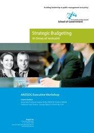 Strategic Budgeting - Australia and New Zealand School of ...